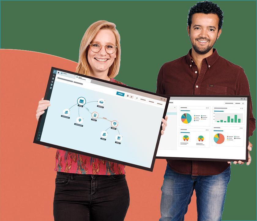 Deux experts TOPdesk prêts à vous aider