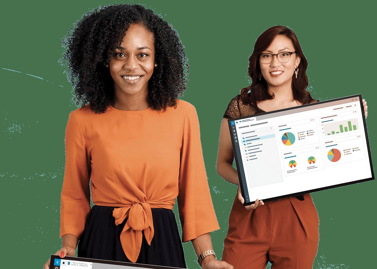TOPdesk vállalati szolgáltatásmenedzsment-platform és alkalmazottak