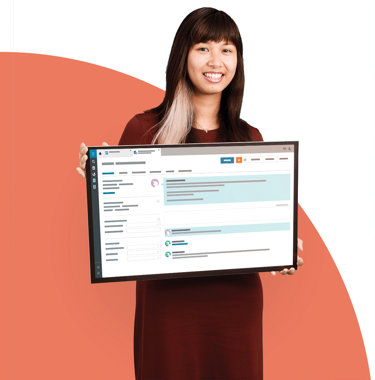 A TOPdesk alkalmazottja bemutatja a szoftvert