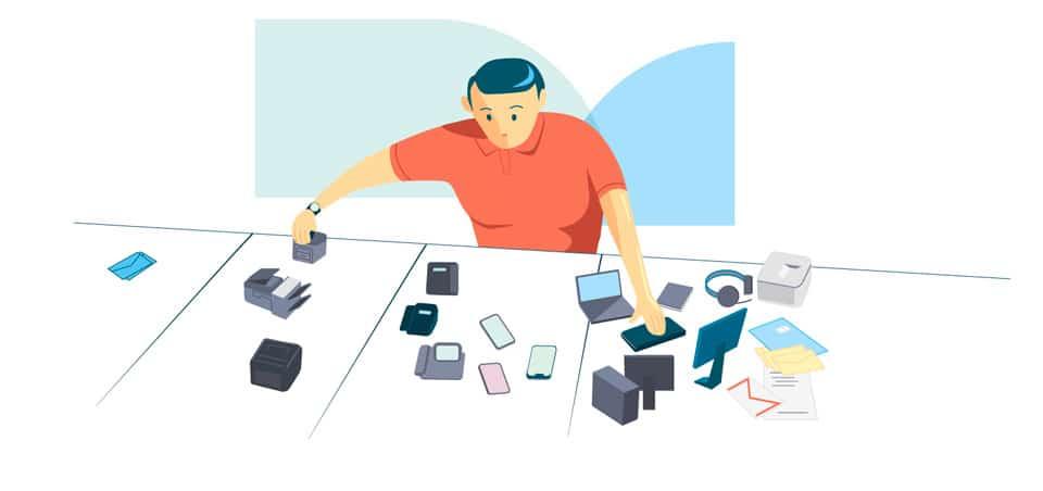 Categorização com gerenciamento de ativos de TI